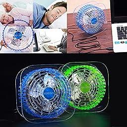 Bangcool Led Fan USB Portable Mini Desktop Fan(Green)