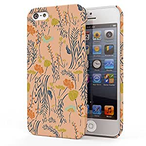 Koveru Back Cover Case for Apple iPhone 5S - Texture of grass & Flowers