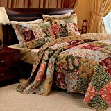 French Country Patchwork Quilted Bedspread Set King
