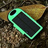 40000mAH, Solar Charger, Portable Power Bank for iPhone, iPad, Android, Cell Phone, Tablet. Waterproof, DustProof, ShockProof, Portable Charger with Dual USB Port (GREEN)