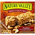 Nature Valley Sweet and Salty Nut Granola Bars, Cashew, 1.2-Ounce, 6-Count Boxes (Pack of 6)