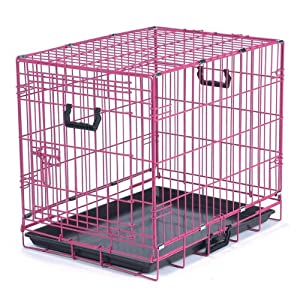 Crate Appeal Fashion Color Dog Crate, Small, Pink Punch