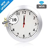 Newwings Upgrade 1080P WiFi Hidden Camera Wall Clock Spy Camera Nanny Cam with Motion Detection, Indoor Covert Security Camera for Home and Office, No Night Vision