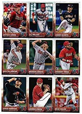 2015 Topps Baseball Cards Arizona Diamondbacks Complete Team Set (Series 1 &2 - 26 Cards ) Including Vidal Nuno, Didi Gregorius, Paul Goldschmidt, Aaron Hill, Addison Reed, David Peralta Team Card, Miguel Montero, Jake Lamb, Trevor Cahill, Chris Owings
