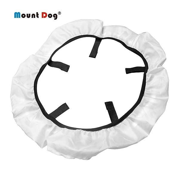 MountDog 18 inch Studio Ring Light Diffuser Lighting Cover Photography Soft Light Filter Collapsible Ring Lighting Diffusion Cloth (Color: Ring Light Diffuser)