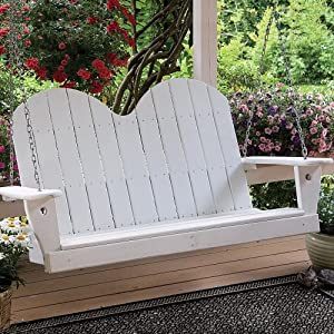 Great American Woodies Black Cottage Classic - 4 ft Savannah Swing