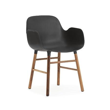 Normann Form Arm Chair Walnut - Black