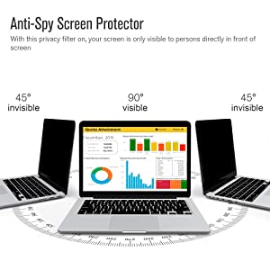 Ovimir - 15 inch Magnetic Privacy Anti-Spy/Glare Screen Protector Filter Compatible MacBook Pro 15.4'' Laptop (Late 2016-2018 Version: A1707/A1990 Models) (Color: Macbook Pro 15.4''(late 2016-2018)?Magnetic?, Tamaño: Macbook Pro 15.4''(late 2016-2018))