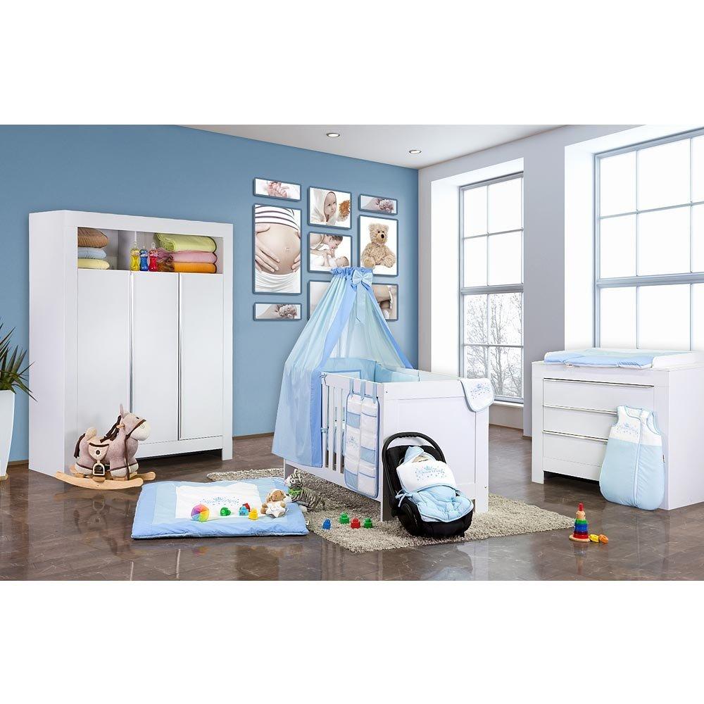 Babyzimmer Felix in weis 21 tlg. mit 3 türigem Kl + Kleiner Prinz in Blau