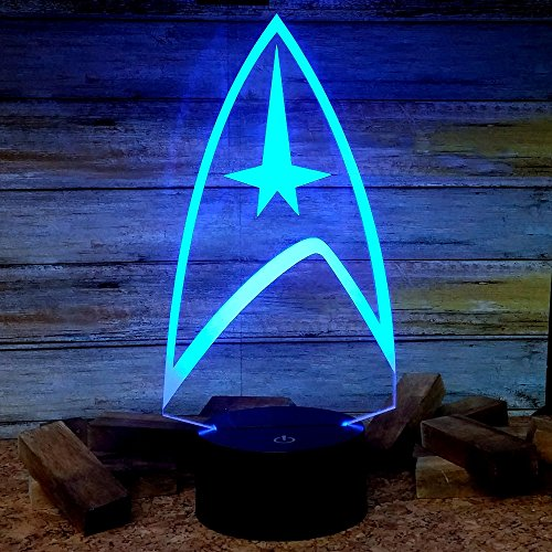 Star Trek Light Lamp, Multi Color Led Sign, Light Decal, Star Trek Gifts