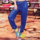 hiphop・ヒップホップ風 ジャズダンス服装 トップス・ズボン Tシャツ スポーツパンツ スパンコールパンツ ステージに レッスン用 演出用 コスチューム仮装 xjsmooth