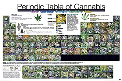 Periodic Table of Cannabis Poster