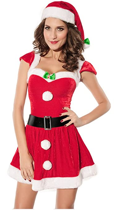 Eyekepper Christmas Female Santa Claus Costume Father Christmas Cosplay Party Dress