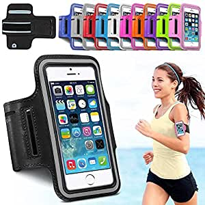 "AINCB INDIA Universal Arm Band Black Mobile Cover/Pouch For Sports & Gym - 5""/5 Inch Screen"