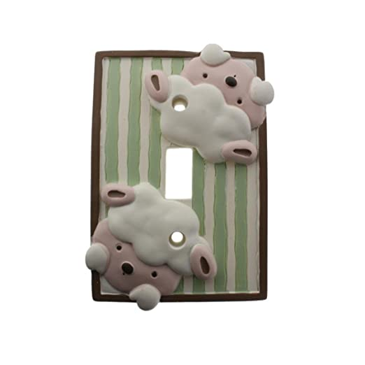 Amazon.com : Little Boutique Sheep Decorative switch plate cover : Baby Keepsake Products : Baby
