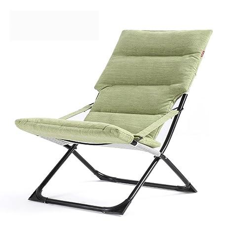 Ali Sofás plegables al aire libre portátil de ocio casa de oficina Almuerzo de moda sola silla ( Color : Verde )