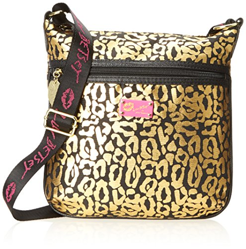 Luv Betsey By Betsey Johnson Printed Cross Body Bag, Gold Leopard, One Size