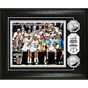 San Antonio Spurs 2014 NBA Finals Champions Celebration Silver Coin Photo Mint by Highland Mint