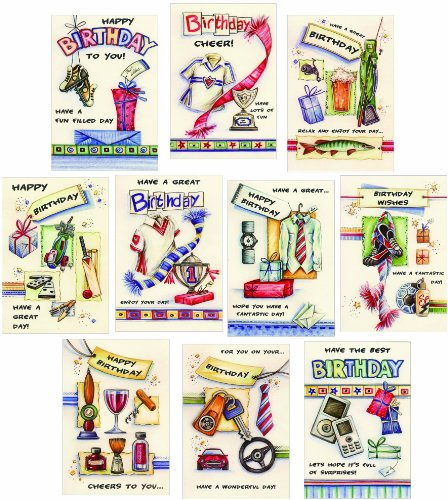 10 Birthday Greeting Cards For Boys Teenagers Men