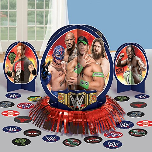 "Amscan Grand Slammin' WWE Birthday Party Table Decorating Kit (23 Piece), Multi, 12"" - 1"