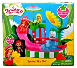 Pool Slides:Strawberry Shortcake perfumed 3 in <span class ='cd'>intex super water slide'n lounge island</span>. Doll play set - Splashin' Petal swimming pool with perfumed Strawberry Shortcake Doll, Hat, swimming pool Base, outdoor patio Platform, five Support Legs, Slide, Umbrella along with Post, Table, hand towel Rack, blossom Shower, Fabric hand towel and Instructions