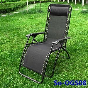 Ogs08 Chaise Longue Bain De Soleil Chaise De Jardin Chaise De Camping Repose Pieds Transat