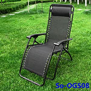 ogs08 chaise longue bain de soleil chaise de jardin chaise de camping repose pieds transat. Black Bedroom Furniture Sets. Home Design Ideas