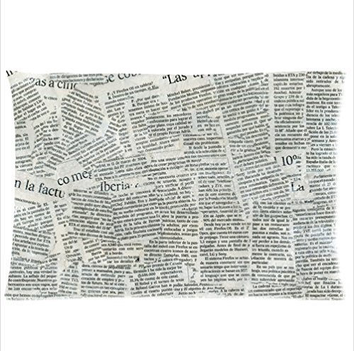 Personalized Classic Newspaper Design Amazing Newspaper Pattern Zippered Pillowcases 20X30 Inches (Twin Sides )