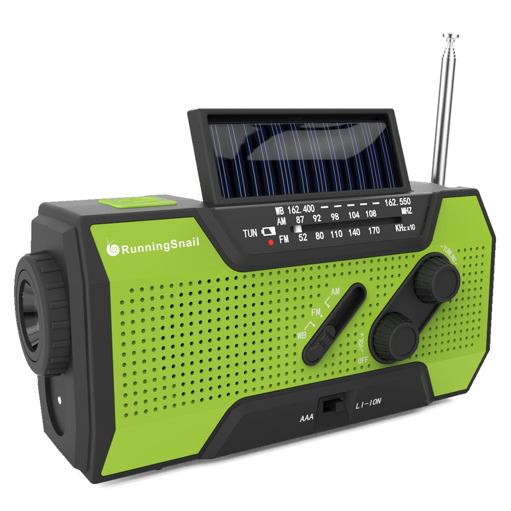 Solar Crank Weather Radio
