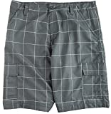 Burnside Mens Grid Cargo Shorts