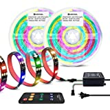 DreamColor RGB Strip Lights Kit Sync to Music,32.8ft/10m Addressable Music Strip Lights with Remote Control for Bar KTV and Home (Color: Music Dreamcolor Led Strip 32.8ft Kit)