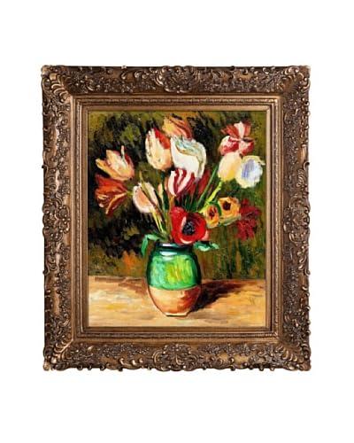 Pierre Auguste Renoir Tulips in a Vase Oil Painting