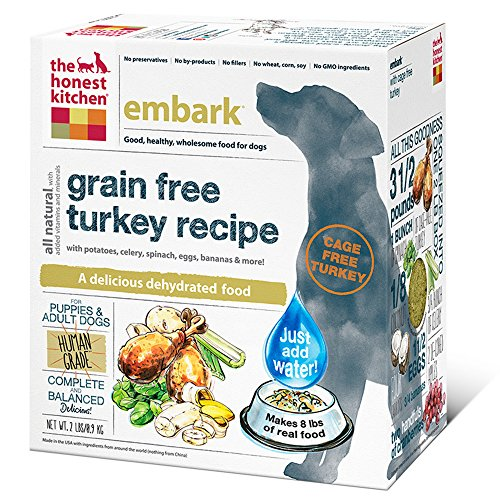 The Honest Kitchen Embark: Grain Free Turkey Dog Food , 2 lb