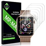 MP-MALL Screen Protector for Apple Watch 44mm / 42mm (Series 4/3/2/1 Compatible), [6-Pack] Anti-Bubble Screen Protector Flexible Film, Lifetime Replacement Warranty (Color: Original Version)