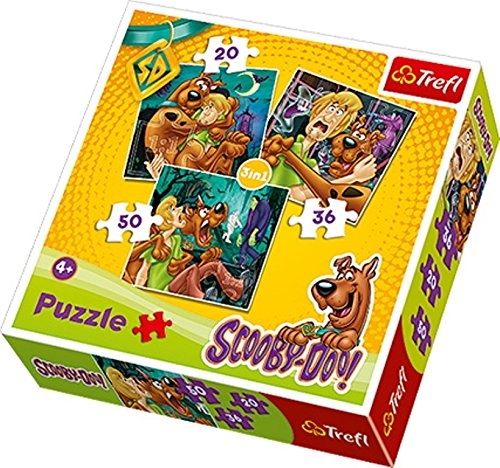 Trefl 3-in-1 Scooby Doo Look Out Ghosts Puzzle (106 Pieces)