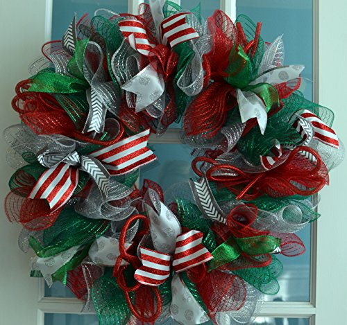Christmas Wreaths Made From Ribbons And Bows Christmas