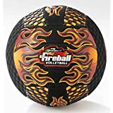 "Grip Zone 8.5"" Fireball Volleyball (Sting Free) W/Fun Gripper Embossed Flames -Orange"