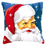 Vervaco Kind Santa Cross Stitch Cushion Multi Colour