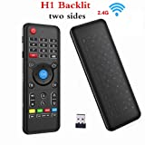 Penkou H1 Backlit Air Mouse 2.4GHz Mini Portable Wireless keyboard with touchpad Remote Control for Smart TV, Android TV Box, PC, HTPC, IPTV, Media Player