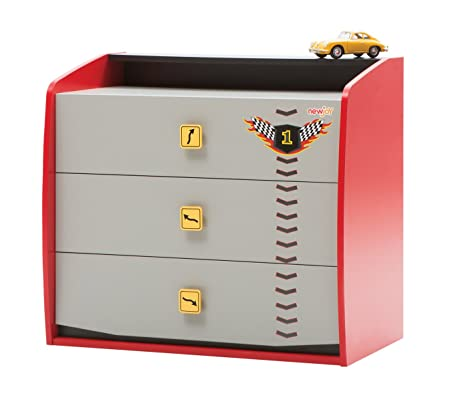 New Joy Vento Red V8 Children Chest of Drawers, 80 x 89 x 51 cm