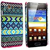 STYLEYOURMOBILE {TM} SAMSUNG GALAXY S ADVANCE i9070 LIGHT GREEN AZTEC TRIBAL PATTERN RETRO VINTAGE HARD SHELL CASE PROTECTION COVER