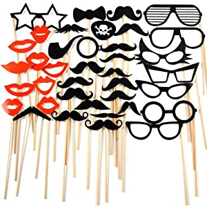 Photo booth 38pcs Sticker Moustache Mariage Accessoire Fete Mustache Hat Wedding