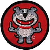 Dog Of Glee - Womens Dog Of Glee - Double Finger Patch Red