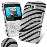 Femeto Zebra Fur Back Cover Case for HTC ChaCha HTC ChaCha Case Cover