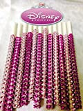 Disney Princess Inspired Pretty in Pink Specialty Bling Cake Pop Sticks - Hot Pink & Light Pink Glam for Lollipops, Cake Pops and All Things Party - Bling Sticks 6 15.2 Cm - 12 Ct Set