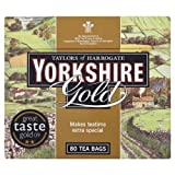 Taylors of Harrogate Yorkshire Gold 80 Tea Bags 250g - Pack of 5