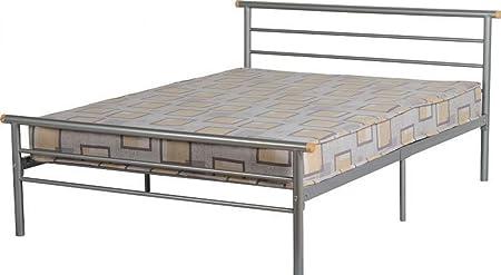 Pie de cama Orion 121,92 cm 15,24 cm cama de acoplamiento plateado