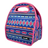 Neoprene Insulated Lunch Bag,CrazyFire® Waterproof Personalized Insulated Lunch Bags for Men Women Kids with Rubber Zipper Design