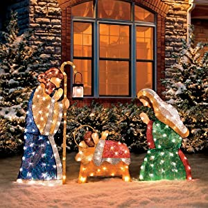 Shimmering Holy Family Nativity-Set of 3 - Improvements