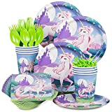 Costume-Supercenter-BBKIT901-Unicorn-Fantasy-Birthday-Party-Standard-Tableware-Kit